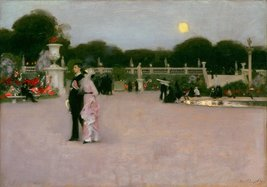 100% Hand Painted Oil on Canvas - Sargent - In the Luxembourg Gardens - ... - $226.71