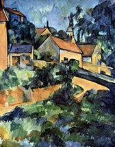 100% Hand Painted Oil on Canvas - Road curve in Montgeroult by Cezanne -... - $315.81