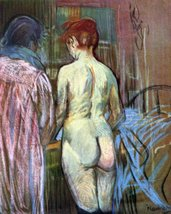 100% Hand Painted Oil on Canvas - Two Girls from Behind by Toulouse-Laut... - $315.81