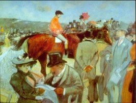 100% Hand Painted Oil on Canvas - At the Races by Forain - 20x24 Inch - $226.71