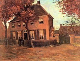 100% Hand Painted Oil on Canvas - The vicarage of Neunen by Van Gogh - 20x24 ... - $226.71