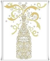 Champagne cross stitch chart Alessandra Adelaide Needleworks - $16.20