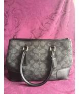 Coach Hamptons Bag 7723 Signature Gray Wool with Black Leather Trim, Rar... - $49.00