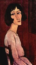 100% Hand Painted Oil on Canvas - Modigliani - Portrait of Margarita - 24x36 ... - $315.81