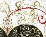Carnevale Veneziano mask cross stitch chart Alessandra Adelaide Needleworks