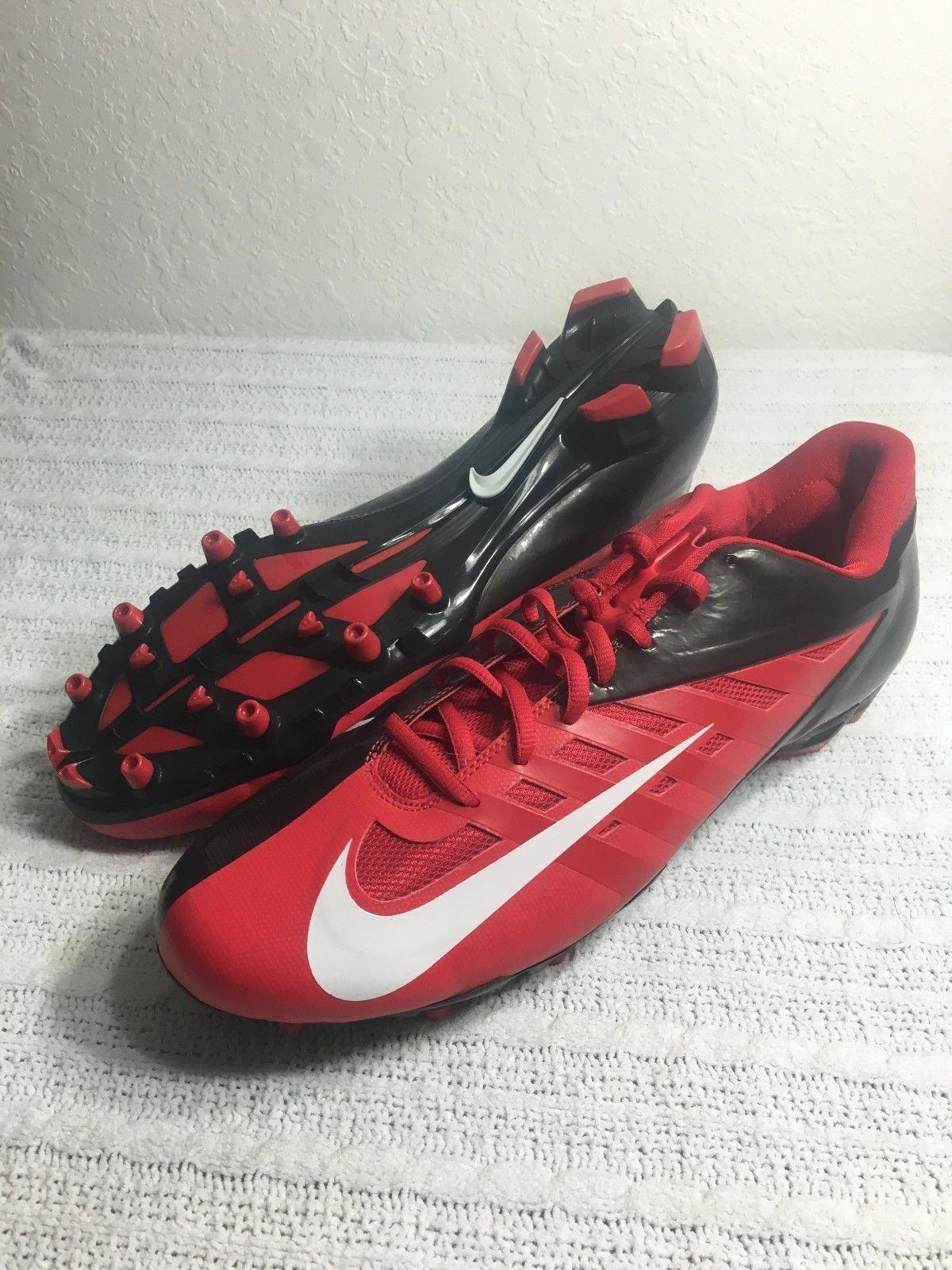 143ff6b5e02 NIKE VAPOR PRO LOW TD FOOTBALL CLEATS RED BLACK MEN SIZE 14 NEW 534770 602