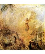 100% Hand Painted Oil on Canvas - Angel in the sun by Joseph Mallord Tur... - $315.81