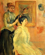 100% Hand Painted Oil on Canvas - Hairstyle by Morisot - 24x36 Inch - $315.81
