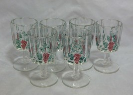 Westmoreland Paneled Grape Set of 6 Painted Water Goblets - $23.76