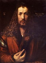 100% Hand Painted Oil on Canvas - Self Portrait 2 by Durer - 24x36 Inch - $315.81