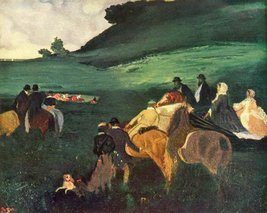 100% Hand Painted Oil on Canvas - Riders in the landscape by Degas - 20x... - $226.71