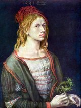 100% Hand Painted Oil on Canvas - Self Portrait 3 by Durer - 24x36 Inch - $315.81
