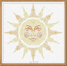 Sun cross stitch Alessandra Adelaide Needleworks - $16.75
