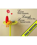 Live Laugh Love Beyond Words Vinyl wall letteri... - $24.99