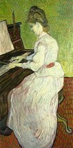 100% Hand Painted Oil on Canvas - Mademoiselle Gachet at the Piano - 20x24 Inch - $226.71