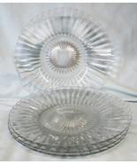 Heisey Coarse Rib Luncheon Plate set of 4 - $32.56