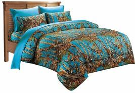 "1 pc Full / Double size ""The Woods"" Camo Sea Breeze Comforter 86"" x 94"" - $46.42"