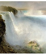 100% Hand Painted Oil on Canvas - Church - Niagra Falls from the America... - $226.71