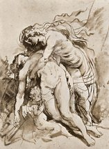 100% Hand Painted Oil on Canvas - The Death of Adonis by Rubens - 20x24 ... - $226.71