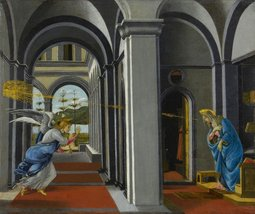 100% Hand Painted Oil on Canvas - The Anunciation by Boticelli - 30x40 Inch - $404.91