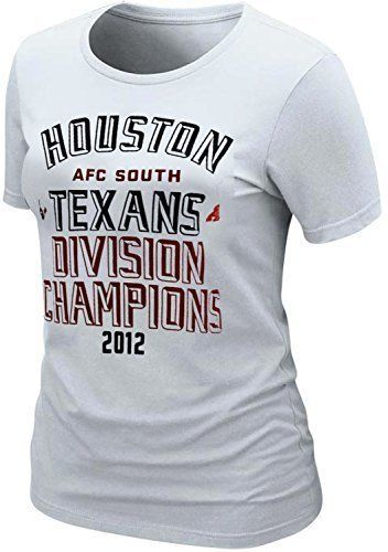 Nike Women s Houston Texans Division Champs NFL Slim Fit T-Shirt Large  White NEW 63df7b21a