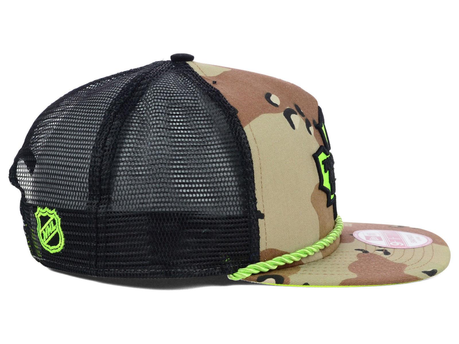 7eb4b333670d2 TORONTO MAPLE LEAFS Snapback Hat NHL Hockey New Era Rope Mesh Camo Neon Cap  NEW