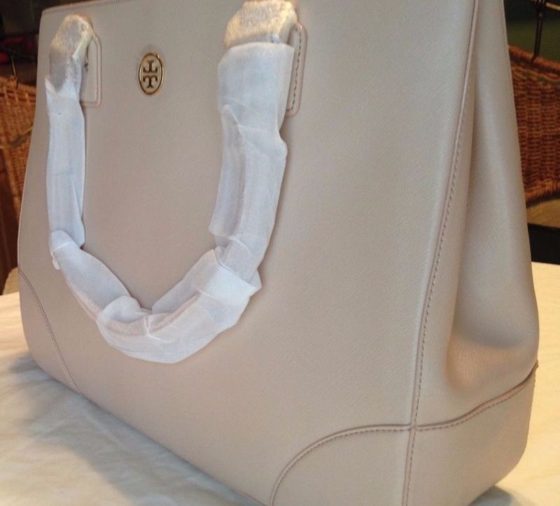 NEW TORY BURCH 18169680 DARK SAHARA LEATHER GOLD ACCENT SHOULDER TOTE BAG PURSE