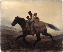 100% Hand Painted Oil on Canvas - Eastman Johnson - A Ride for Liberty -... - $226.71