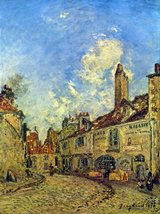 100% Hand Painted Oil on Canvas - Street in Nevers by Jongkind - 24x36 Inch - $315.81