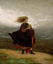 100% Hand Painted Oil on Canvas - Eastman Johnson - The Girl I Left Behi... - $226.71