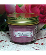 Rose Bouquet 4 oz. Jelly Jar Candle PURE SOY - $5.25