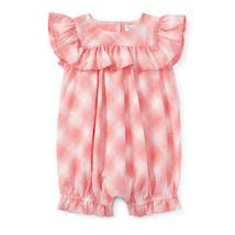 Ralph Lauren Baby Girls Ruffled Plaid Cotton Shortall - $29.00