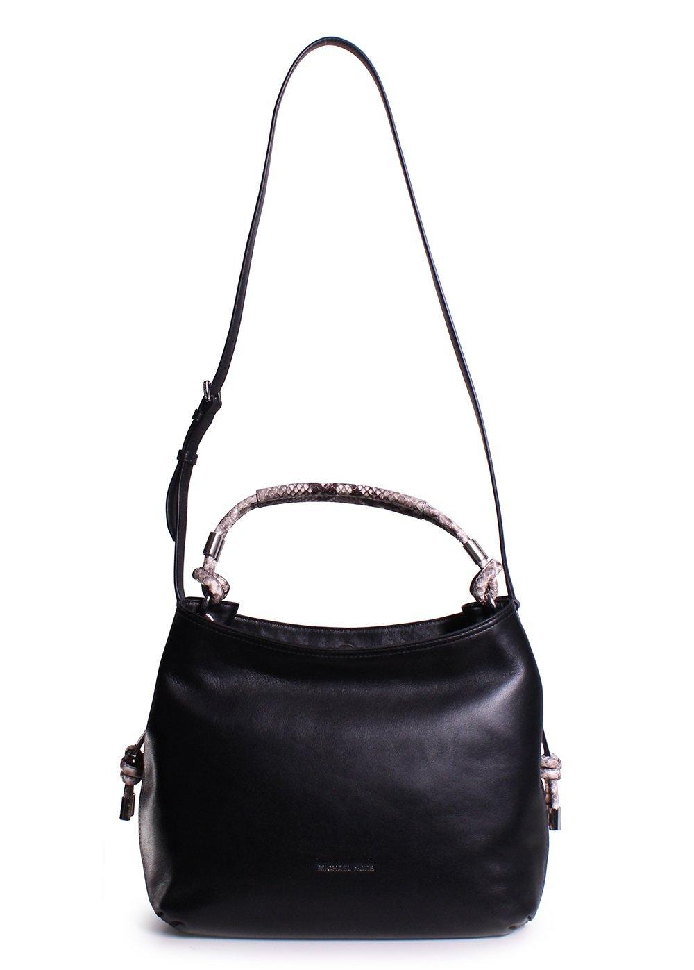 3367b3b55fe8 ... Michael Kors Isabel Large Convertible Shoulder Bag in Black
