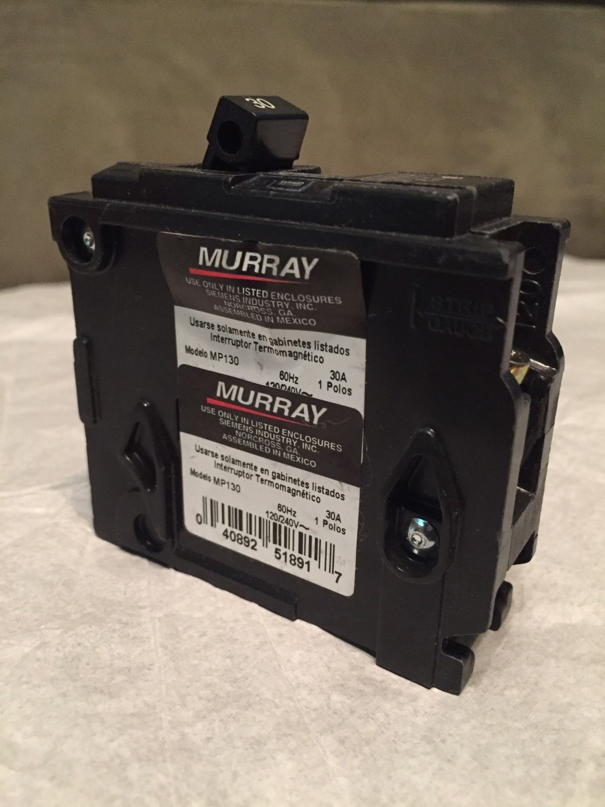 MURRAY MP 130 CIRCUIT BREAKER 1 POLE 30 AMPS MP130
