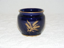 VINTAGE1948 LENOX DARK BLUE with GOLD INLAY WHEAT DESIGN CANDLE HOLDER B... - $59.99