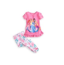 Disney Store Princess Dream-makers Pajama Sleep Set for Girls, Pink Roses - $21.50