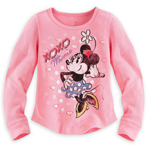 "Disney Store Minnie Mouse ""XOXO"" Long Sleeve Thermal Tee Shirt for Girls... - $19.00"