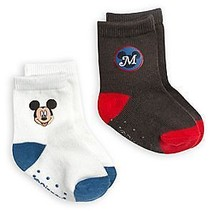 Disney Store Baby Boys Mickey Mouse Sock Set 2-Pack, Brown/White - $6.50