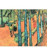 100% Hand Painted Oil on Canvas - Les Alyscamps, falling leaves by Van G... - $226.71