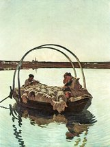 100% Hand Painted Oil on Canvas - Ave Maria by Giovanni Segantini - 24x36 Inch - $315.81