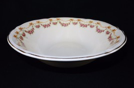 "Vintage Ceramic 8.5"" Serving Bowl ~ Edwin Knowles Pottery, Roses, Ribbon... - $48.95"