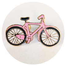 Pop Culture Lapel Pin: Pink Bicycle - $14.90