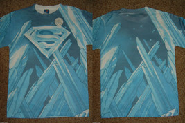 Superman Fortress of Solitude Dc Comics Front And Back Sublimation Print... - $20.00