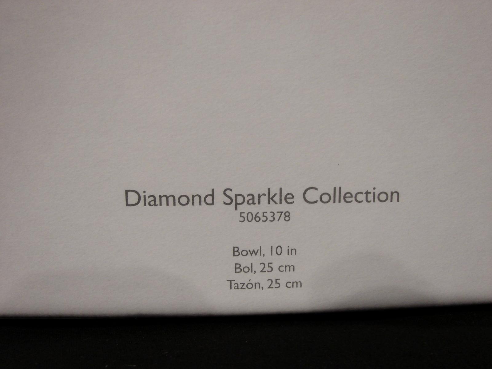 Mikasa Crystal 10 Inch Diamond Sparkle Square Bowl NIB image 3