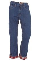Jeans Denim for Men 100% Cotton Flannel Lined Stoned Wash Dark Color VC-... - $45.49+