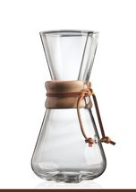 Chemex 3-Cup Classic Glass Coffee Maker with Fo... - $98.97