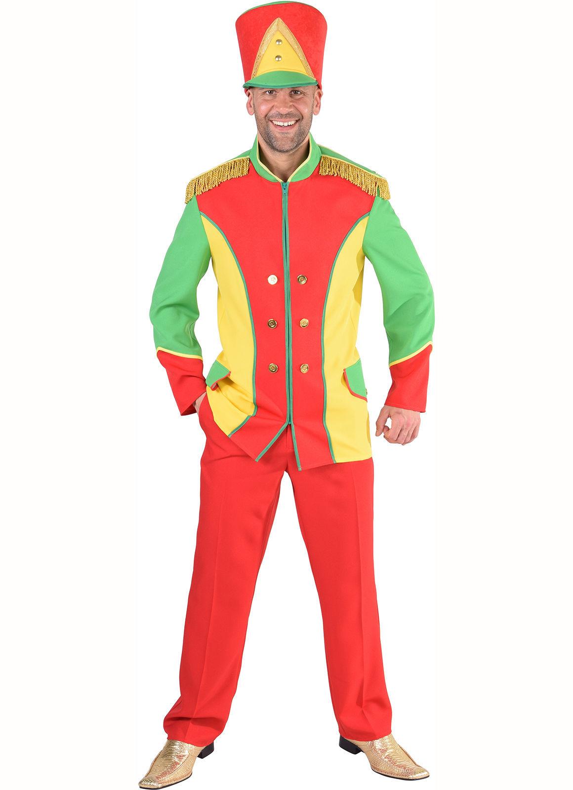 Colorful Toy Soldier /Circus Jacket / Male Majorette Dance Jacket   S-XXL
