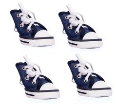 Sparkle Canvas denim Sneakers for Dogs - XS - M Easy on off Set of 4 - $32.27