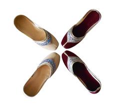 Women Shoes Traditional Indian Handmade Ballerinas Leather Casual Mojari 2 Pairs - £52.58 GBP+