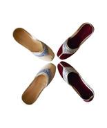 Women Shoes Traditional Indian Handmade Ballerinas Leather Casual Mojari... - $64.99+